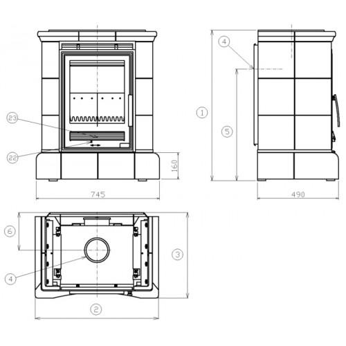 abx helvetia k kachelofen mit kombi einsatz gr n 3017lkz. Black Bedroom Furniture Sets. Home Design Ideas