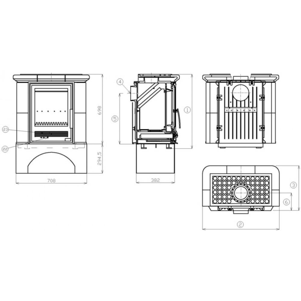 abx iberia l kachelofen mit gusseisen einsatz bordeaux. Black Bedroom Furniture Sets. Home Design Ideas