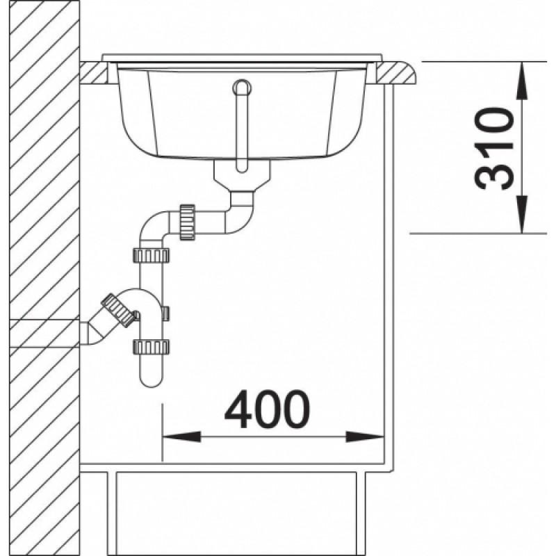 blanco idessa 45 s sp le kristallweiss ohne exzenter links 514497. Black Bedroom Furniture Sets. Home Design Ideas