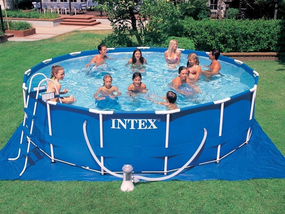 intex frame pool rondo o 549 x 122 cm 28252gn. Black Bedroom Furniture Sets. Home Design Ideas