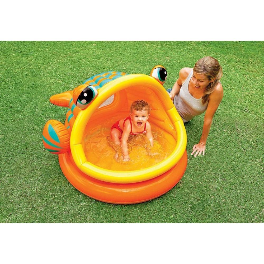 Intex lazy fish shade baby pool 157109np for Intex pool koi pond