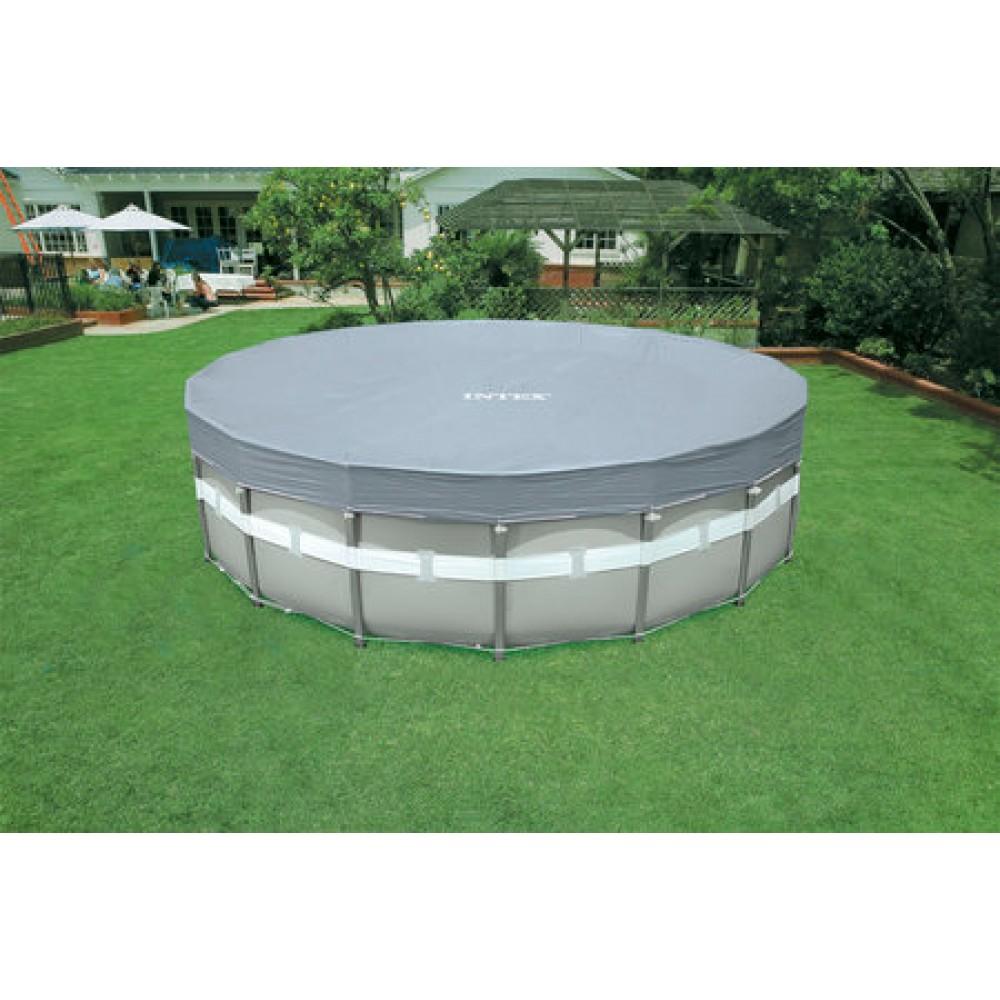 intex deluxe abdeckplane frame pool o 549 cm 28041. Black Bedroom Furniture Sets. Home Design Ideas