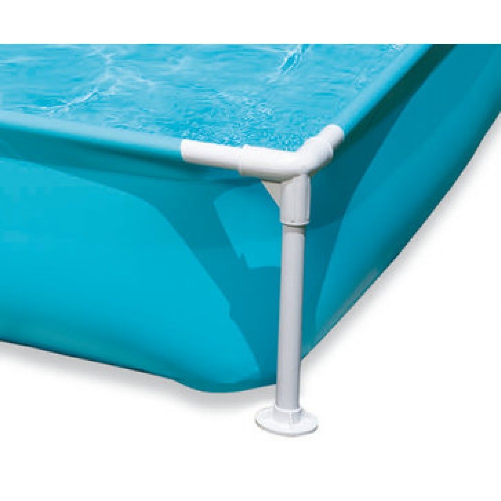 Intex frame pool mini blau 122 x 122 x 30 cm 57173 for Intex mini frame pool afdekzeil