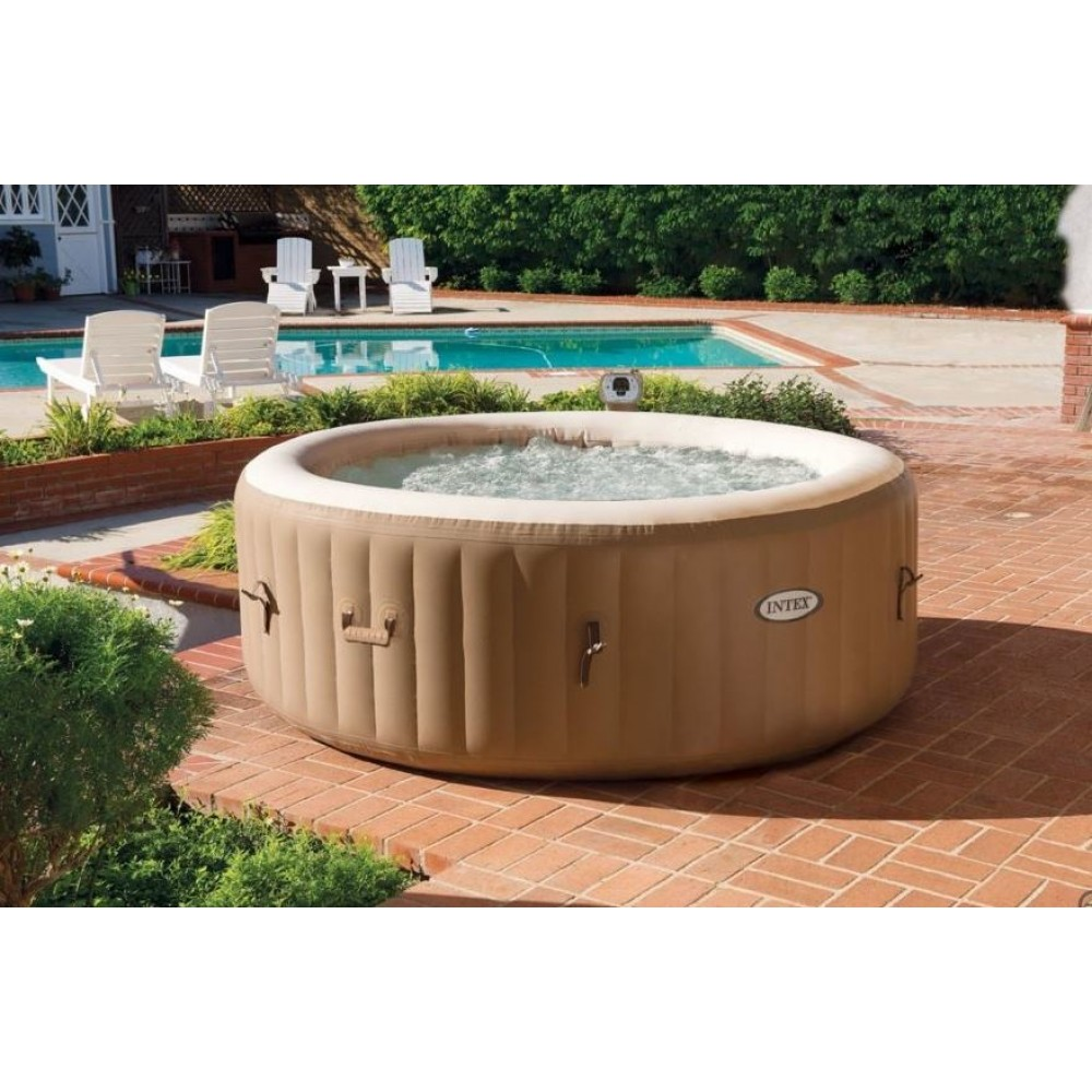 Intex pure spa 77 bubble mit integriertem kalkschutzsystem 28404gn - Pure spa intex ...
