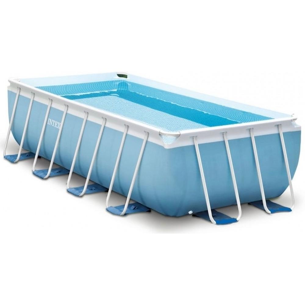 intex prism frame rectangular pool 400 x 200 x 100 cm mit kartuschenfilteranlage 28316gn. Black Bedroom Furniture Sets. Home Design Ideas