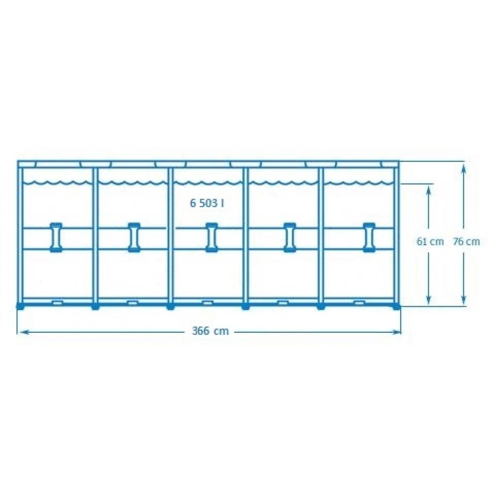 intex metal frame pool o 366 x 76 cm 28212gn. Black Bedroom Furniture Sets. Home Design Ideas