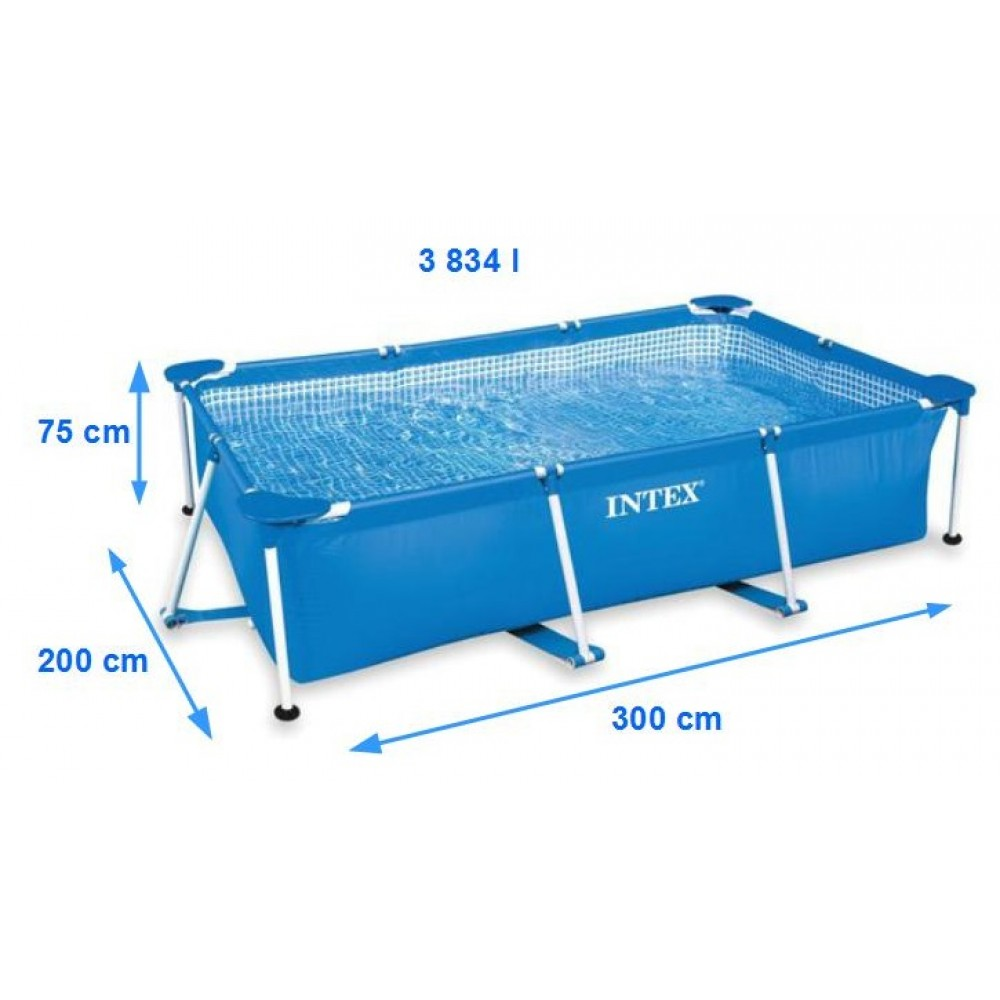 intex frame pool set family 300 x 200 x 75 cm 28272np. Black Bedroom Furniture Sets. Home Design Ideas