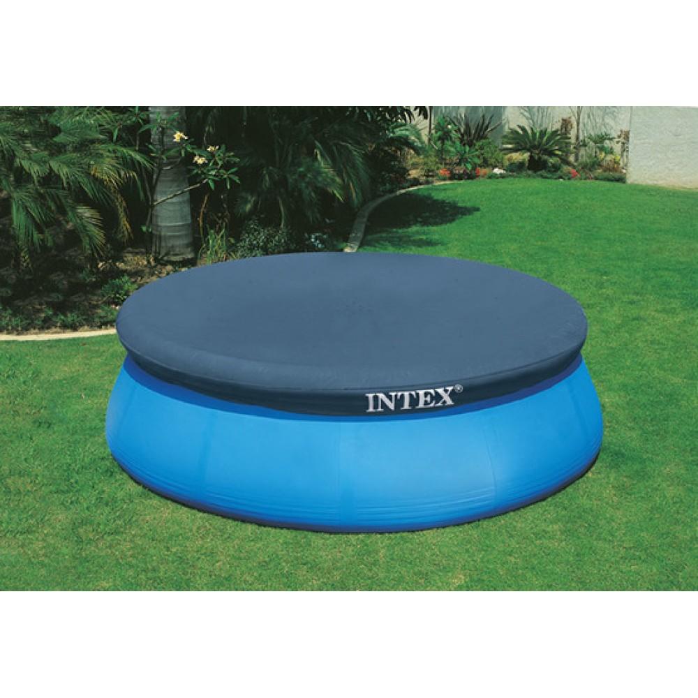 intex abdeckplane rund f r easy pool 3 96 m 28026. Black Bedroom Furniture Sets. Home Design Ideas
