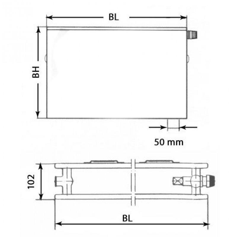 kermi therm x2 plan hygiene v heizk rper 20 405 605 ptv200400601r1k. Black Bedroom Furniture Sets. Home Design Ideas