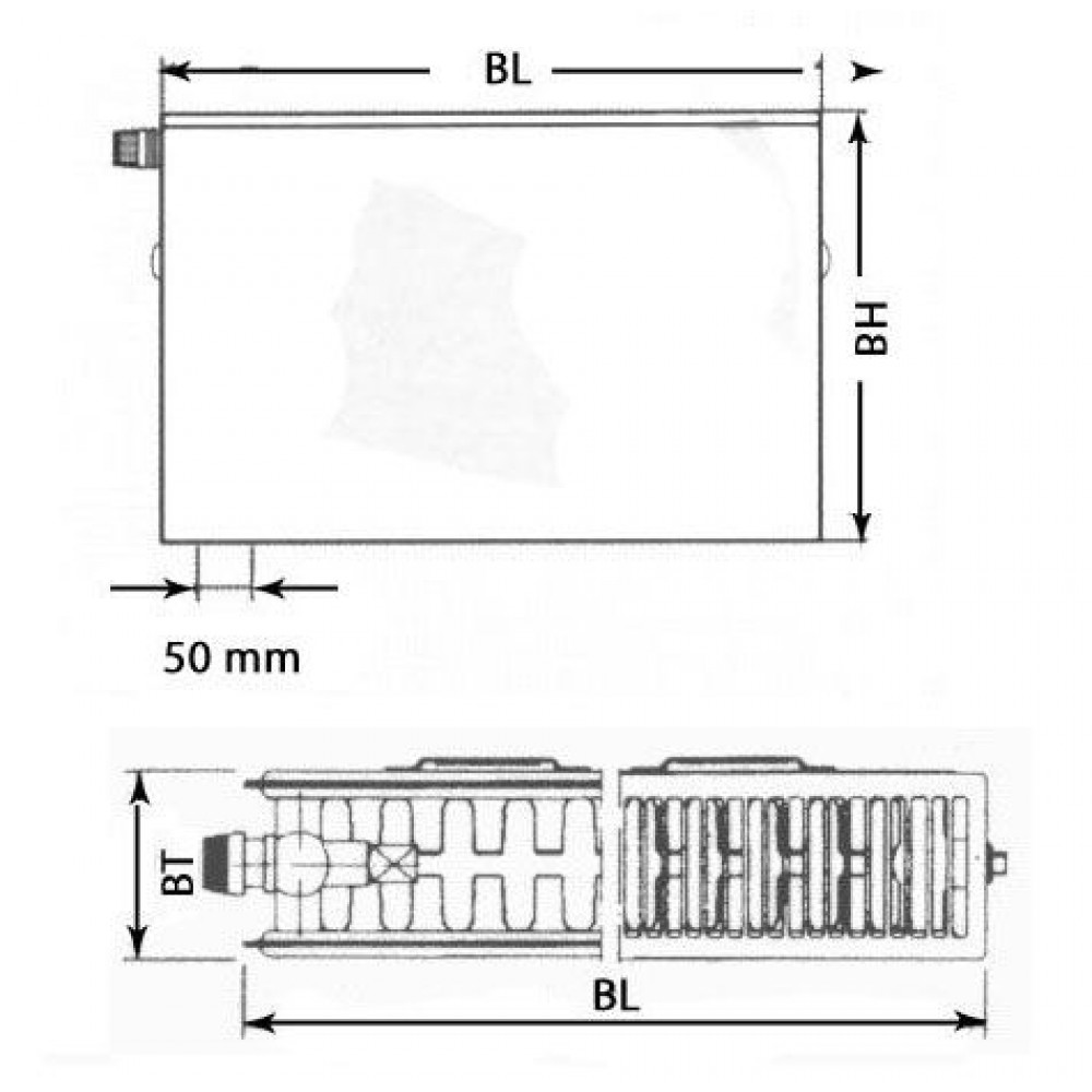kermi x2 plan v flachheizk rper 22 900 600 ptv220900601l1k. Black Bedroom Furniture Sets. Home Design Ideas