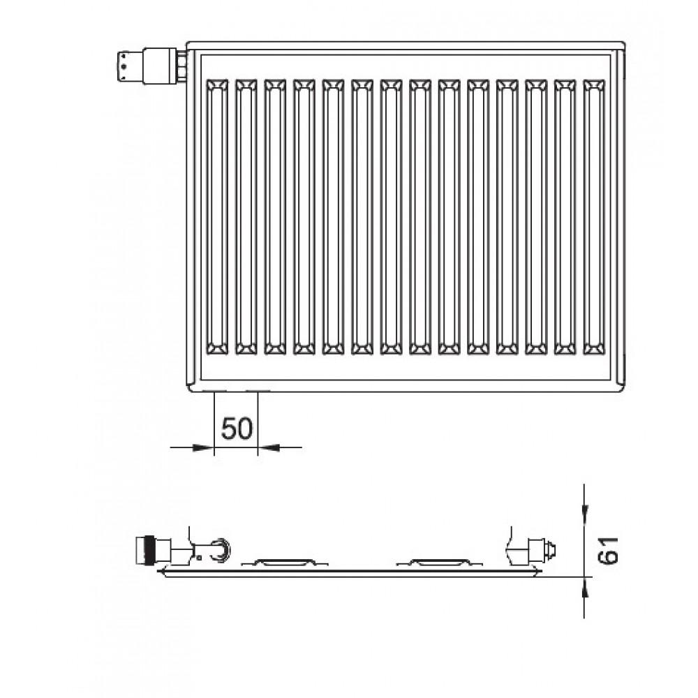 kermi therm x2 profil v heizk rper 10 400 900. Black Bedroom Furniture Sets. Home Design Ideas