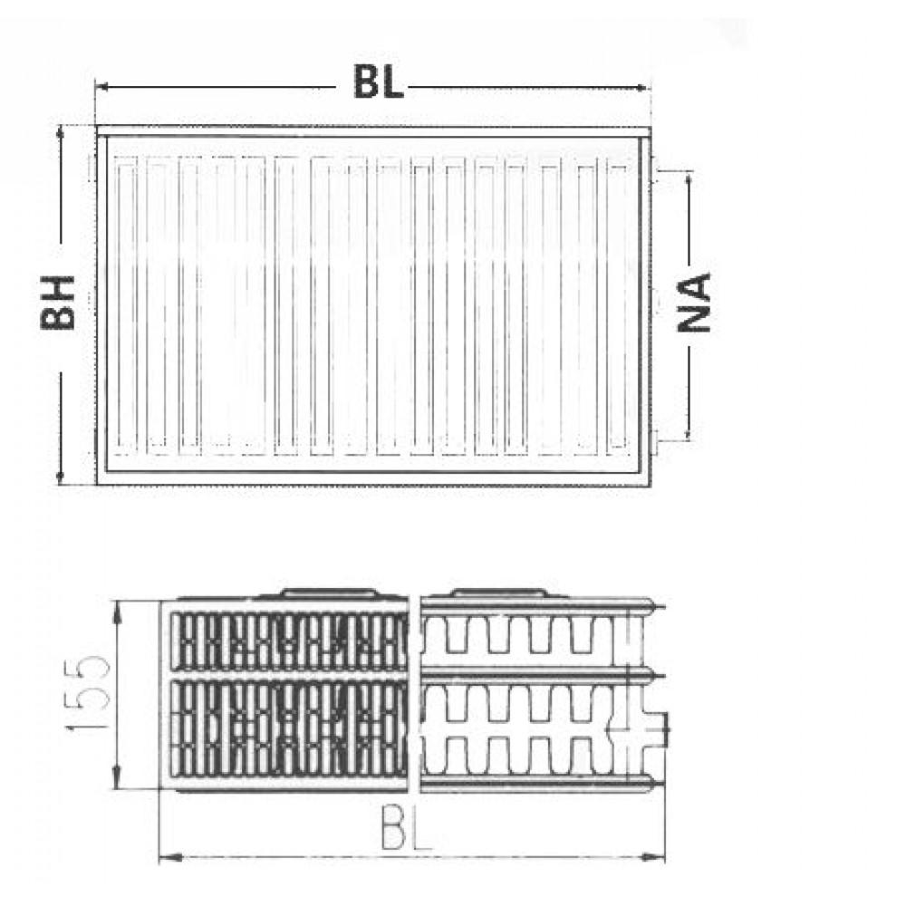 kermi therm x2 profil v heizk rper 33 600 1100 ftv330601101r1k. Black Bedroom Furniture Sets. Home Design Ideas