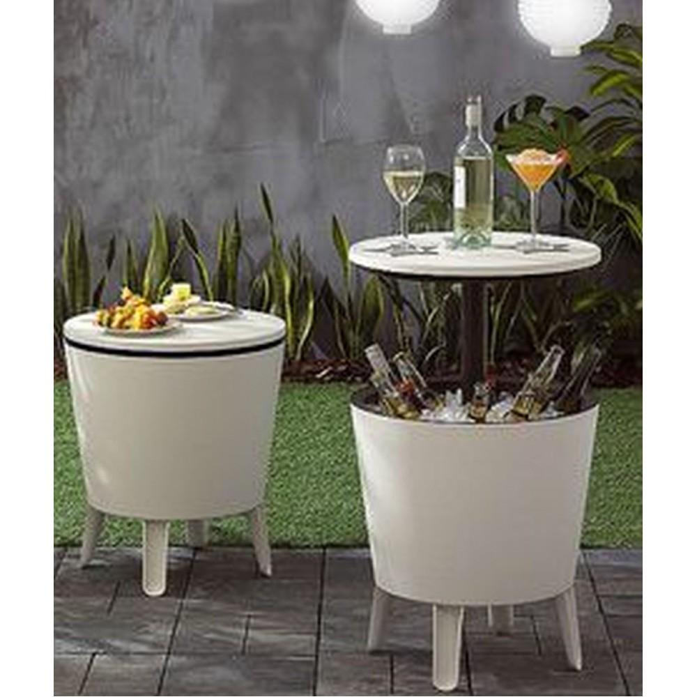 keter cool bar pacific partytisch grau 17186745. Black Bedroom Furniture Sets. Home Design Ideas