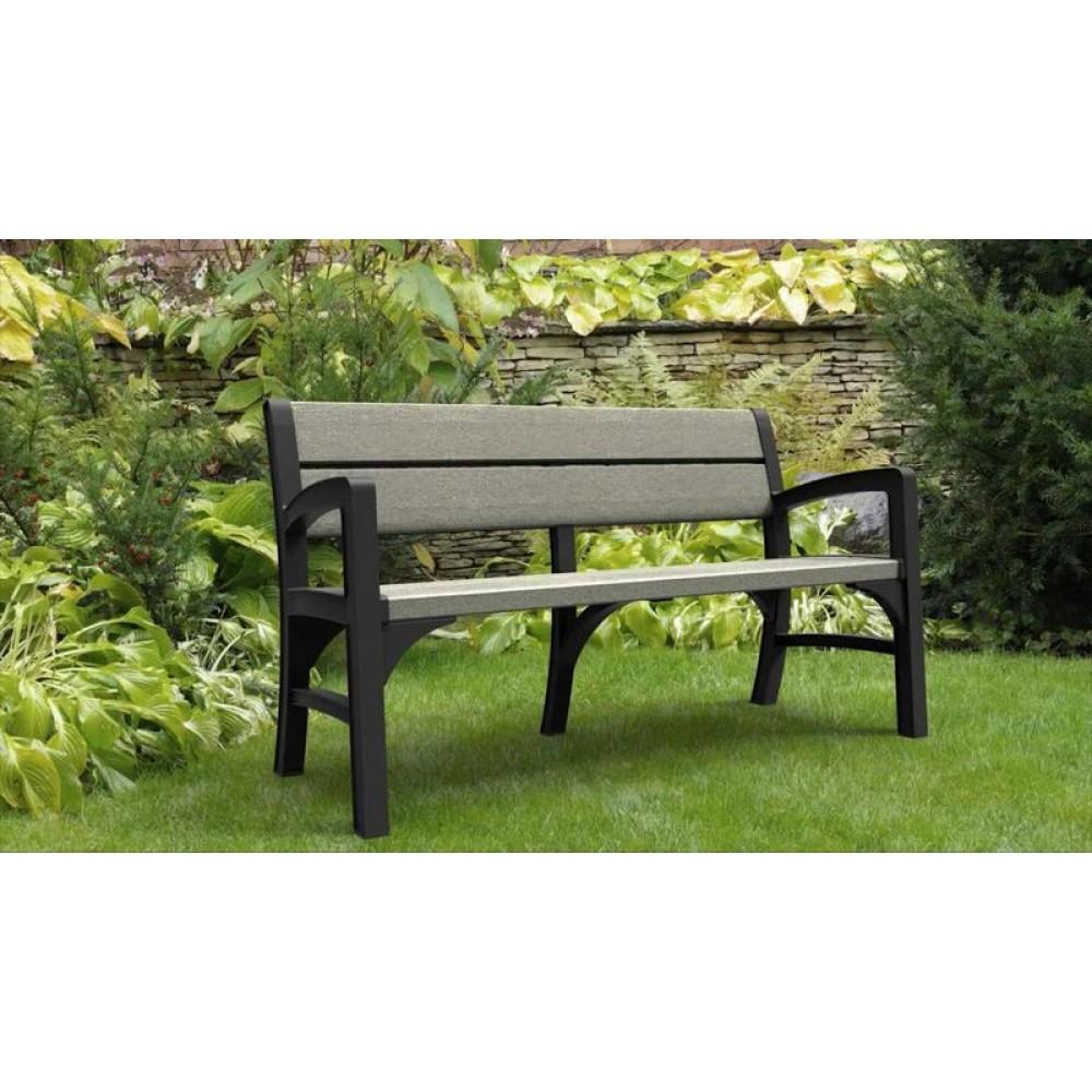 keter montero gartenbank 2 sitzer graphit grau. Black Bedroom Furniture Sets. Home Design Ideas