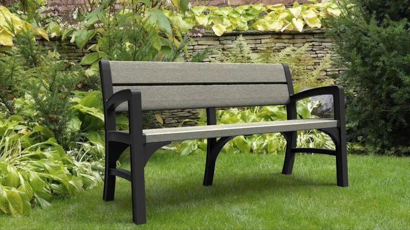 keter montero lounge sofa gartenbank 2 sitzer graphit braungraue 1720. Black Bedroom Furniture Sets. Home Design Ideas