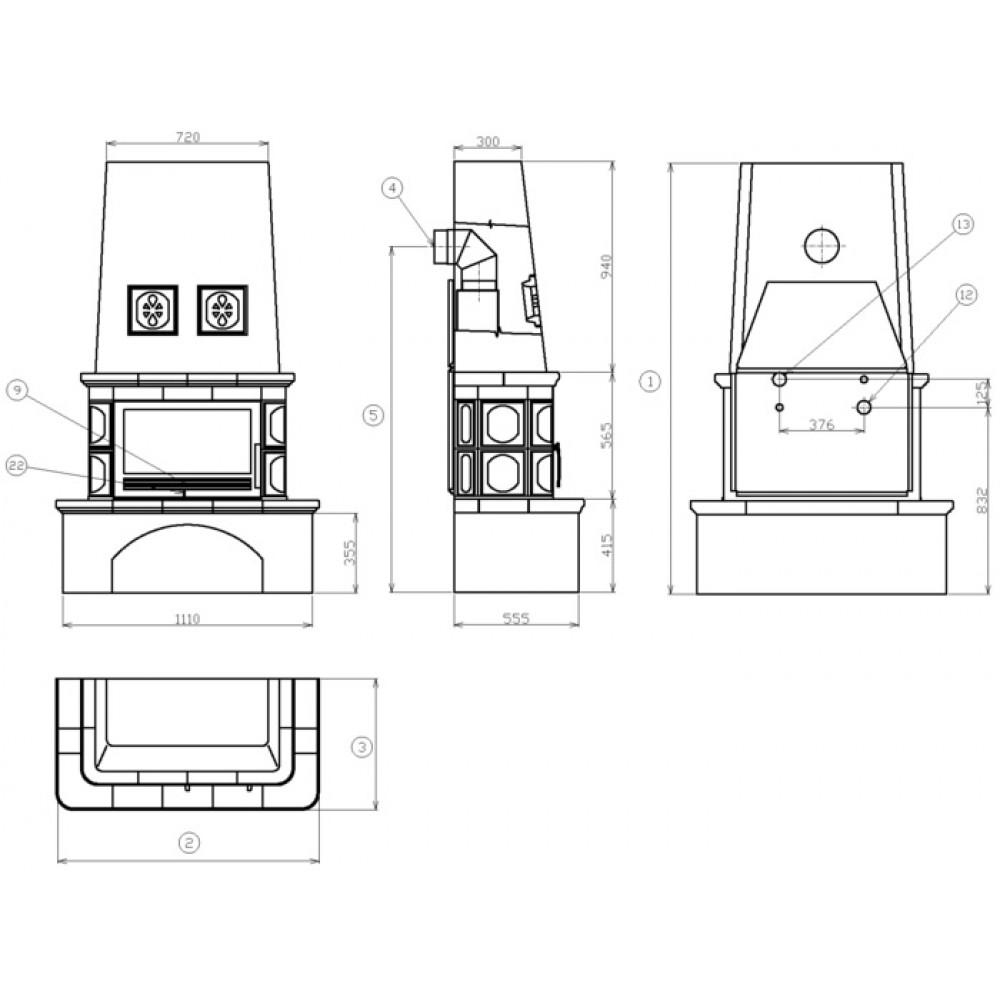 abx laponie tv kachelofen mit w rmetauscher7kw blech einsatz gr n 40127ztv. Black Bedroom Furniture Sets. Home Design Ideas