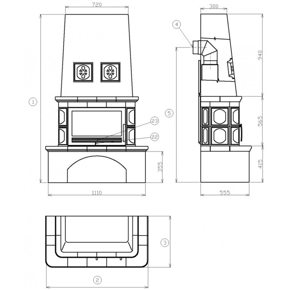 abx laponie 4012 kachelofen mit blech einsatz sandfarbig 4012p. Black Bedroom Furniture Sets. Home Design Ideas