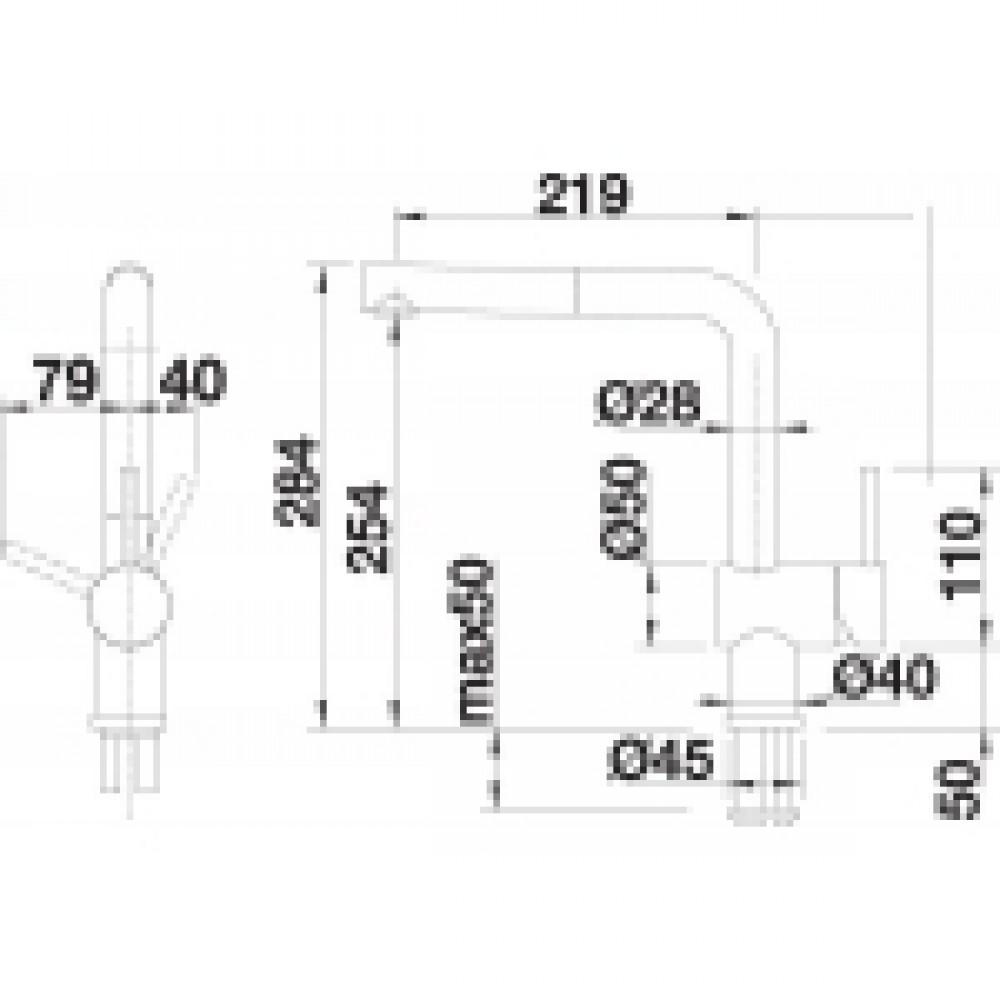 blanco linus s s edelstahl finish hd 512404. Black Bedroom Furniture Sets. Home Design Ideas