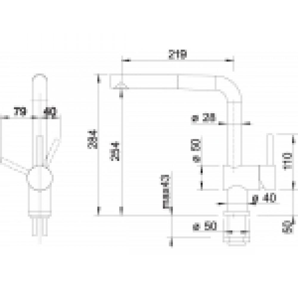 blanco linus s f k chenarmatur edelstahl 514024. Black Bedroom Furniture Sets. Home Design Ideas