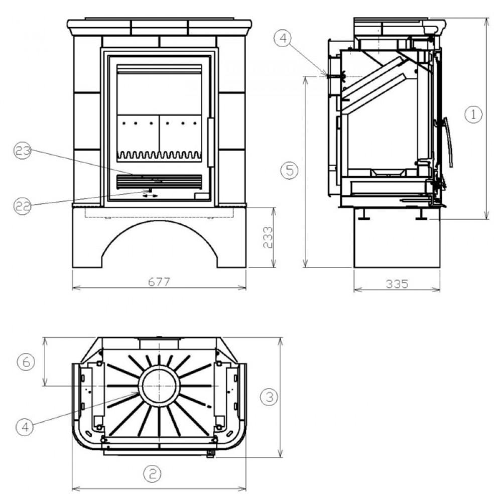 abx marina i l kachelofen mit gusseisen einsatz sandfarbig 3005p. Black Bedroom Furniture Sets. Home Design Ideas