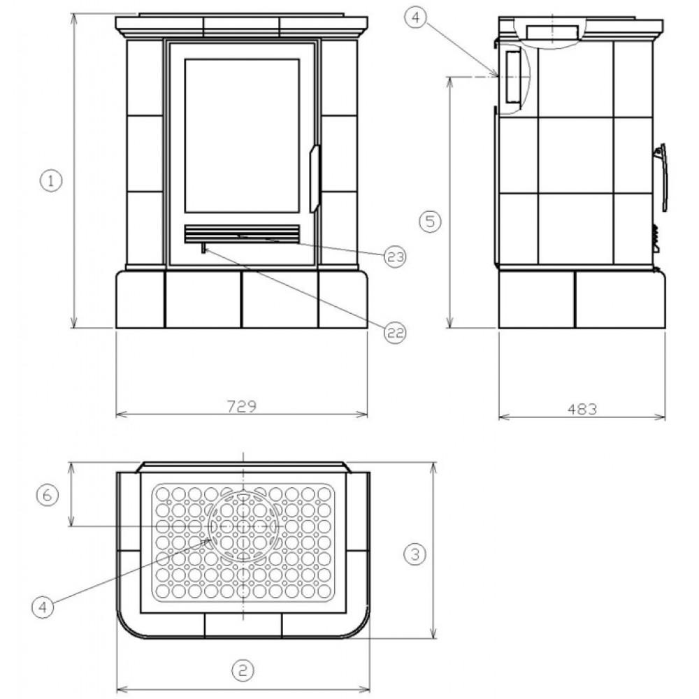 abx marina k kachelofen mit kombi einsatz picasso 3012piz. Black Bedroom Furniture Sets. Home Design Ideas