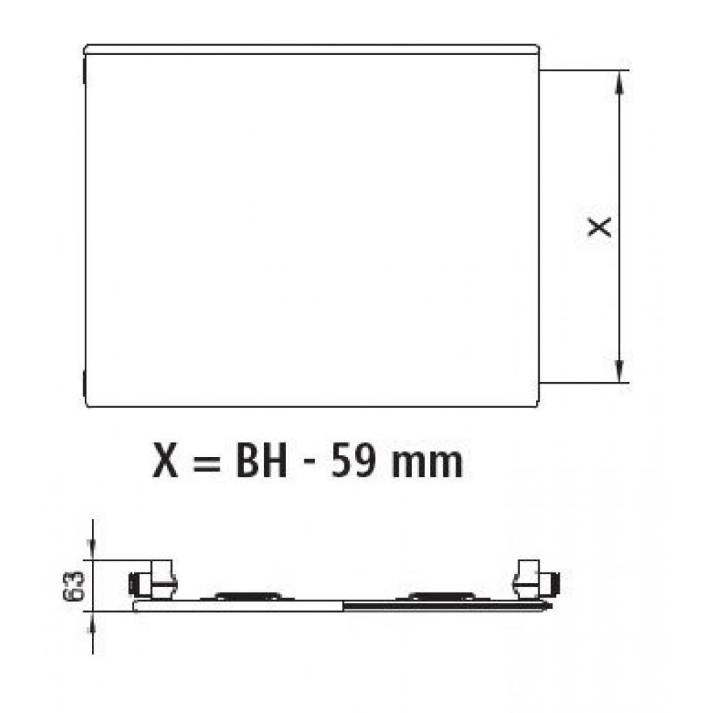 kermi heizk rper plan k typ 10 h 40 5 l 140 5cm pk0100414. Black Bedroom Furniture Sets. Home Design Ideas