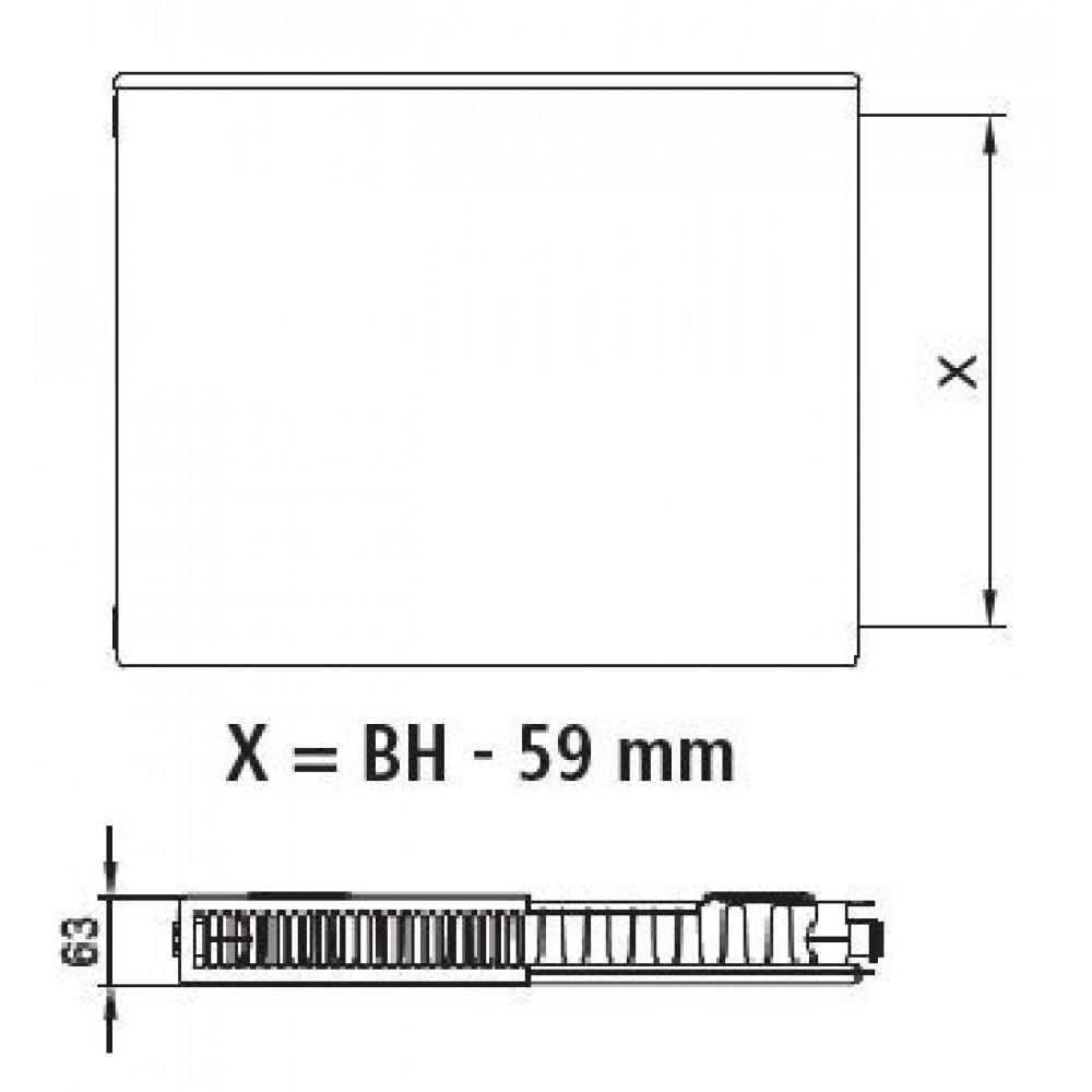 kermi heizk rper plan k typ 11 h 60 5 l 80 5cm pk0110608. Black Bedroom Furniture Sets. Home Design Ideas
