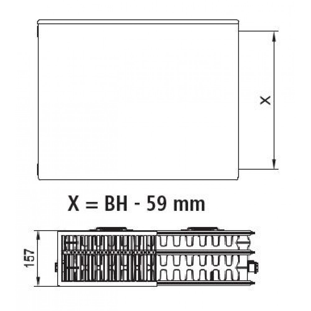 kermi therm x2 plan kompakt heizk rper 33 900 800 pk0330908. Black Bedroom Furniture Sets. Home Design Ideas