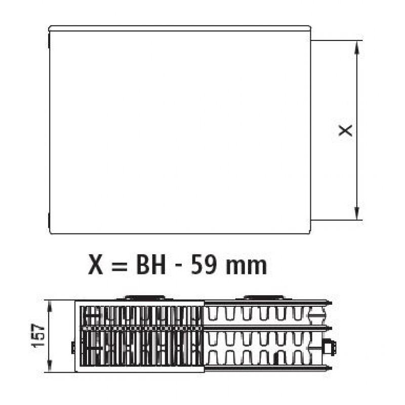 kermi therm x2 plan kompakt heizk rper 33 600 1000 pk0330610. Black Bedroom Furniture Sets. Home Design Ideas