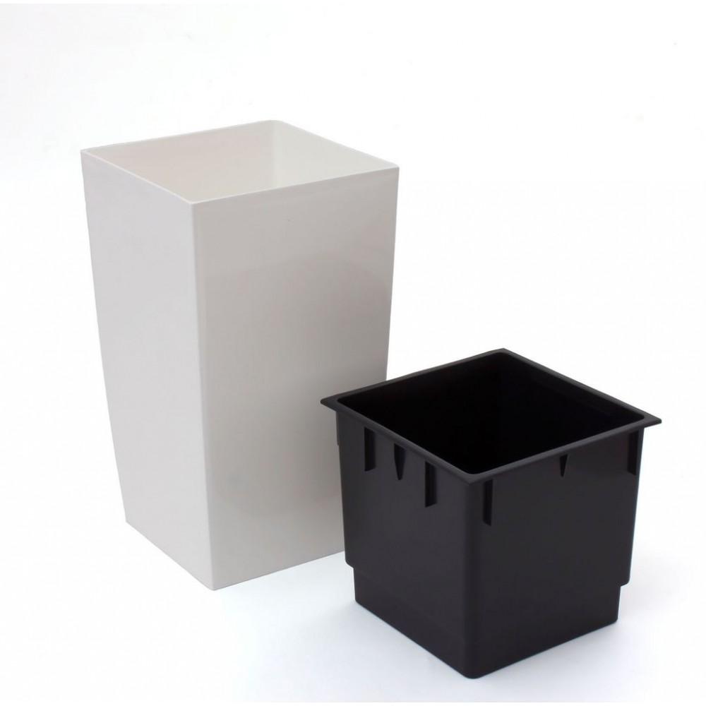 pflanzk bel coubi blumentopf pflanzbeh lter mit einsatz viereckig 10l creme duw200. Black Bedroom Furniture Sets. Home Design Ideas