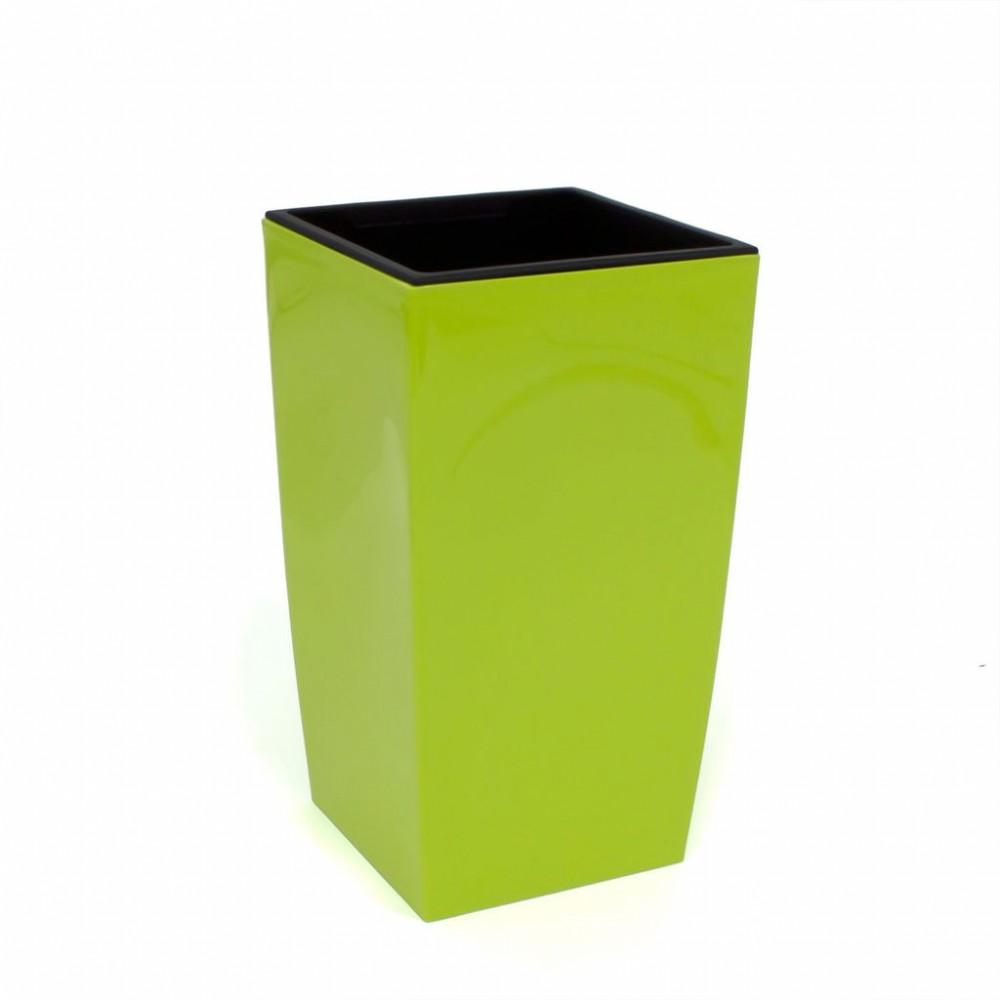 pflanzk bel coubi blumentopf pflanzbeh lter mit einsatz viereckig 10l limettengr n duw200. Black Bedroom Furniture Sets. Home Design Ideas