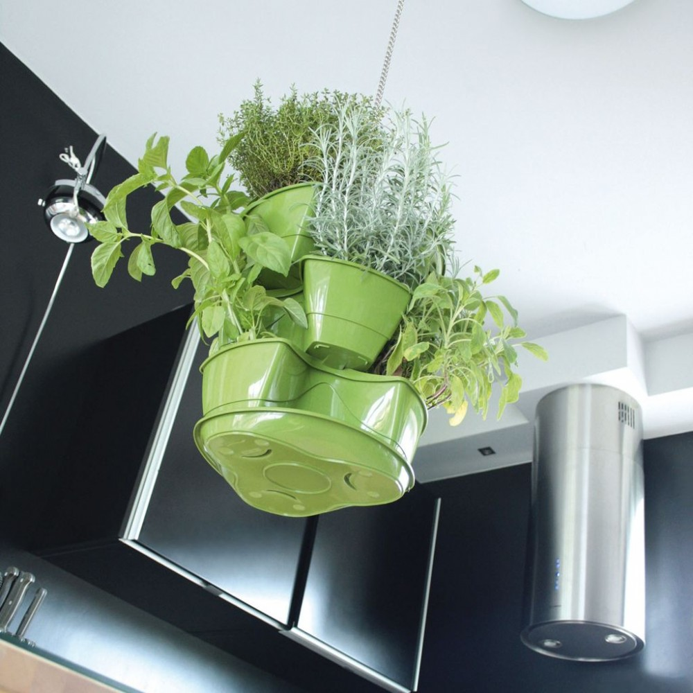 prosperplast coubi blumenampel ampel kr utertopf mit drei ebenen 9 l wei dkn300w. Black Bedroom Furniture Sets. Home Design Ideas