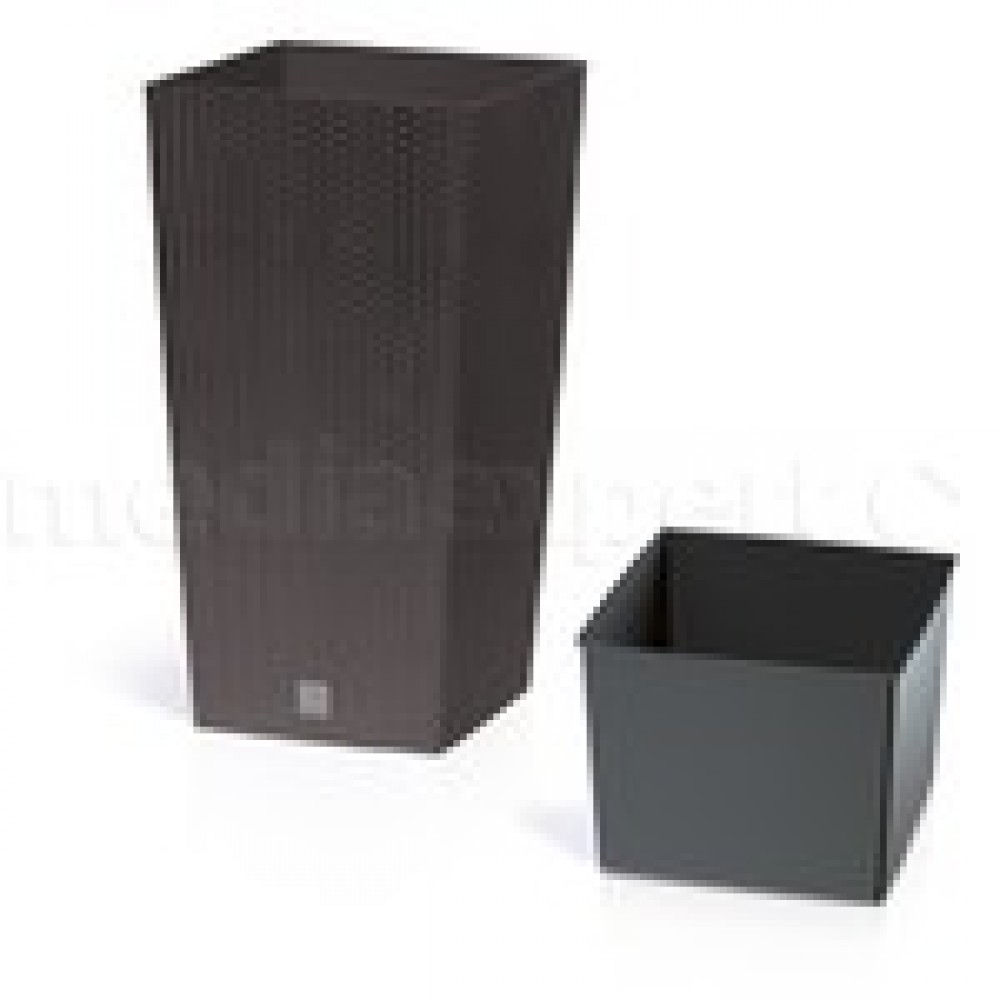 blumenk bel blumentopf rato square h 40 cm rattan optik. Black Bedroom Furniture Sets. Home Design Ideas