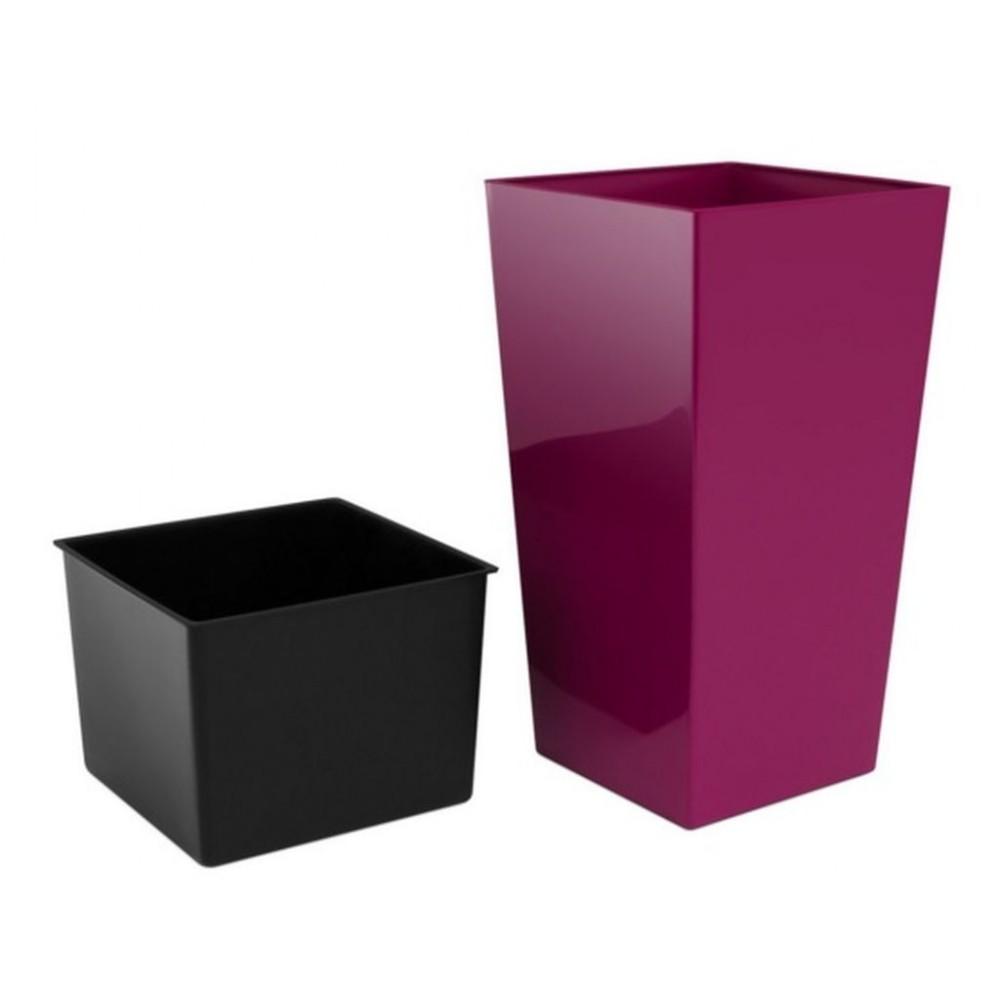 riesiger pflanzk bel urbi square 91 5 l blumentopf inkl einsatz kunststoff fuchsie durs400. Black Bedroom Furniture Sets. Home Design Ideas