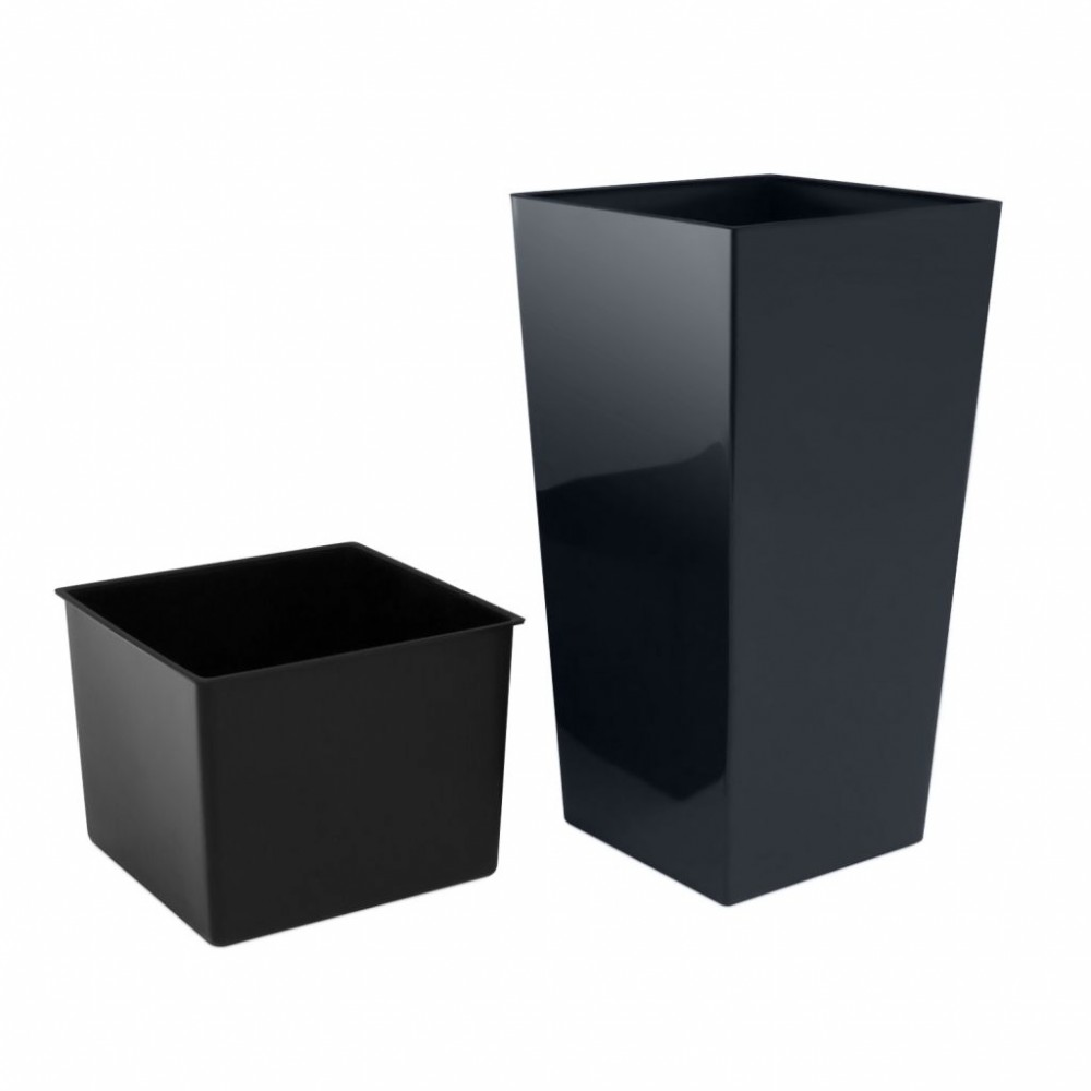 pflanzk bel blumenk bel eckig urbi square blumentopf inkl. Black Bedroom Furniture Sets. Home Design Ideas