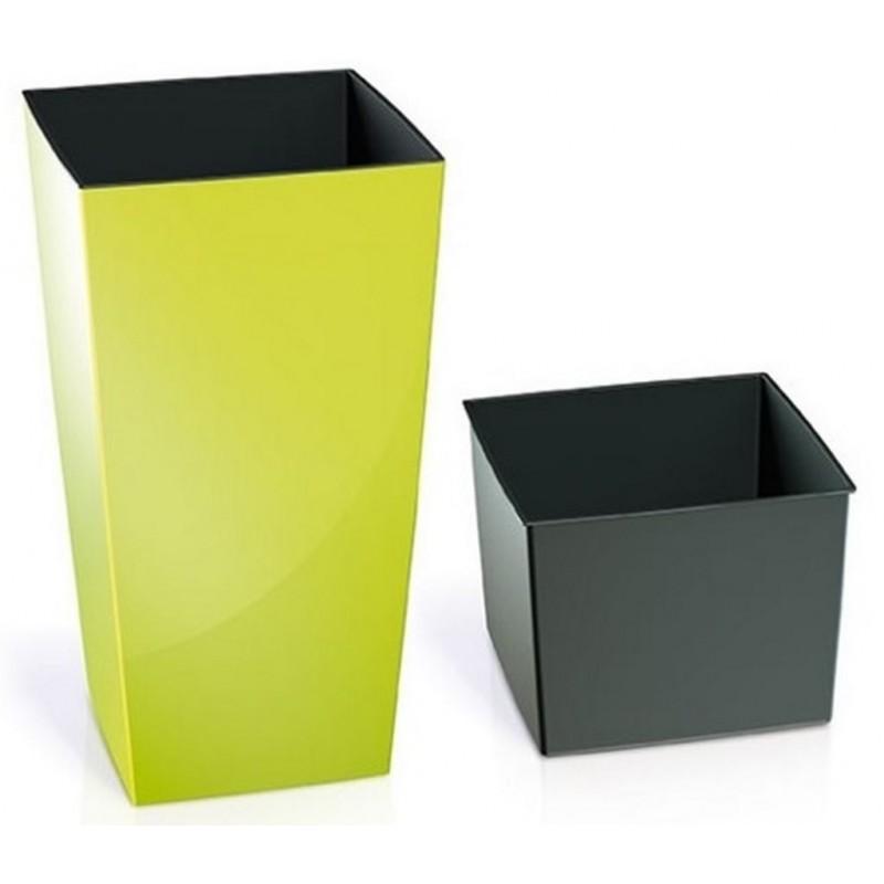 gro er pflanzk bel urbi square 26 6l blumentopf inkl einsatz kunststoff limmette durs265. Black Bedroom Furniture Sets. Home Design Ideas