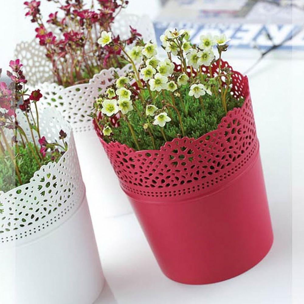 Prosperplast lace blumentopf mit spitzenumrandung 18 cm for Blumentopf rot