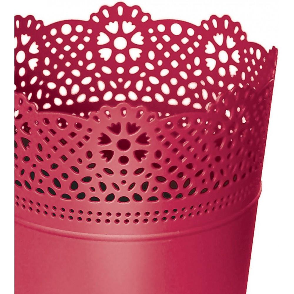 Prosperplast lace blumentopf mit spitzenumrandung 16 cm for Blumentopf rot