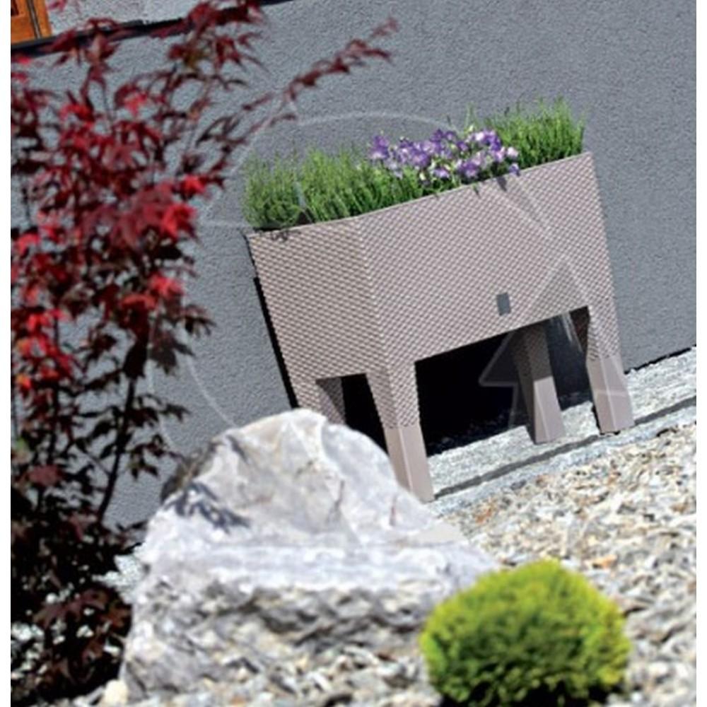 rato case high blumenkasten 60 cm rattan optik wei. Black Bedroom Furniture Sets. Home Design Ideas