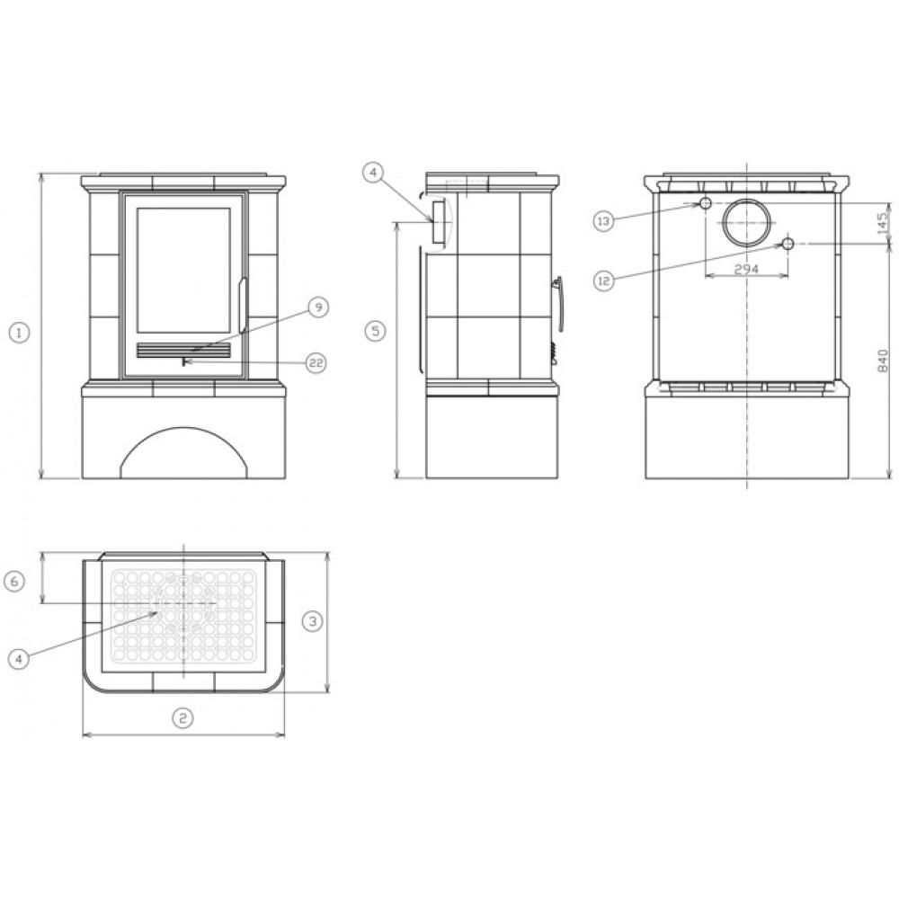 abx regina l tv kachelofen mit w rmetauscher gusseisen einsatz gr n 4633 7ltvkz. Black Bedroom Furniture Sets. Home Design Ideas