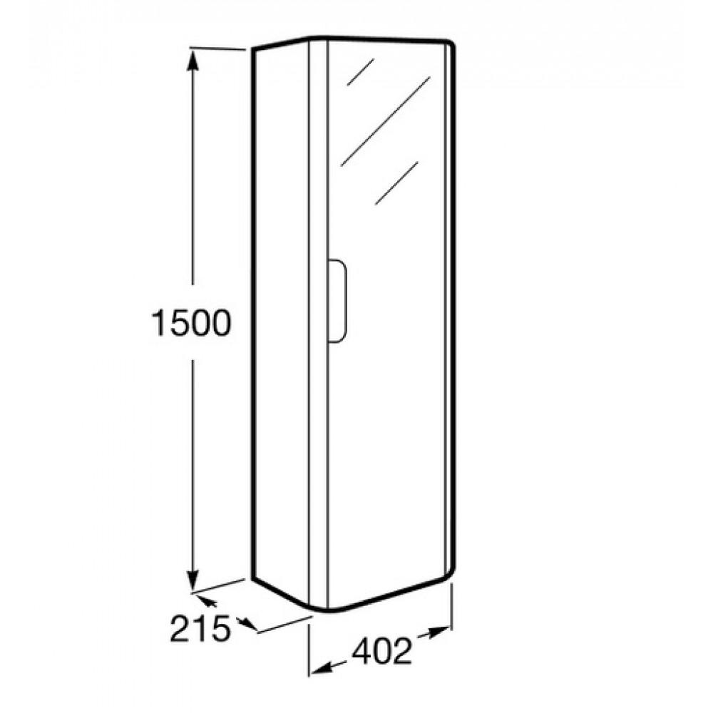 roca dama hochschrank rechts mit spiegel wei 7856627576. Black Bedroom Furniture Sets. Home Design Ideas