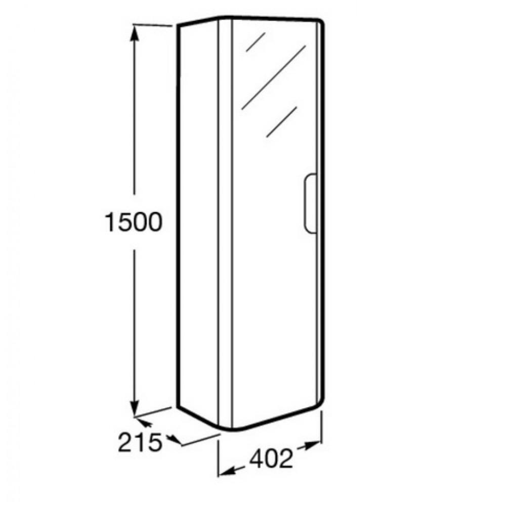 roca dama hochschrank links mit spiegel wei 7856629576. Black Bedroom Furniture Sets. Home Design Ideas