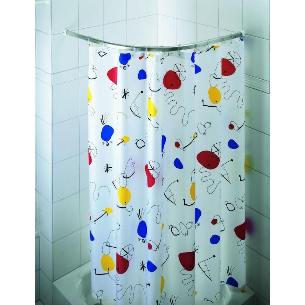 spirella ova rondo duschstange 90 x 90 cm silber 1031146. Black Bedroom Furniture Sets. Home Design Ideas