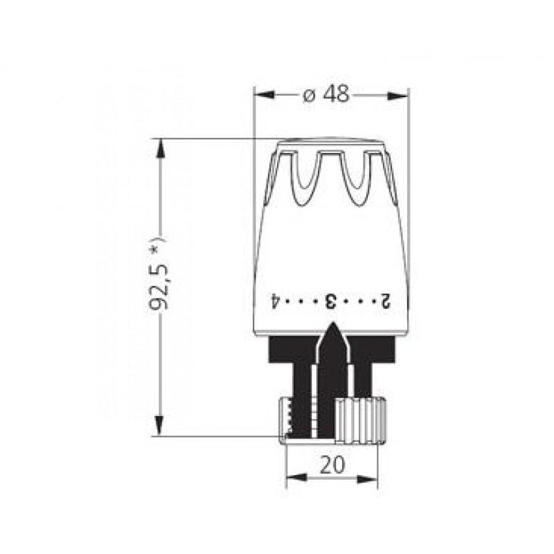 Heimeier dx ra thermostat kopf anschlussverschraubung for Heimeier italia