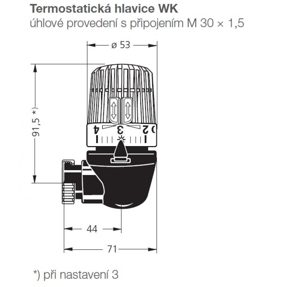 Heimeier thermostat kopf wk mit eingebautem f hler und 2 for Heimeier italia