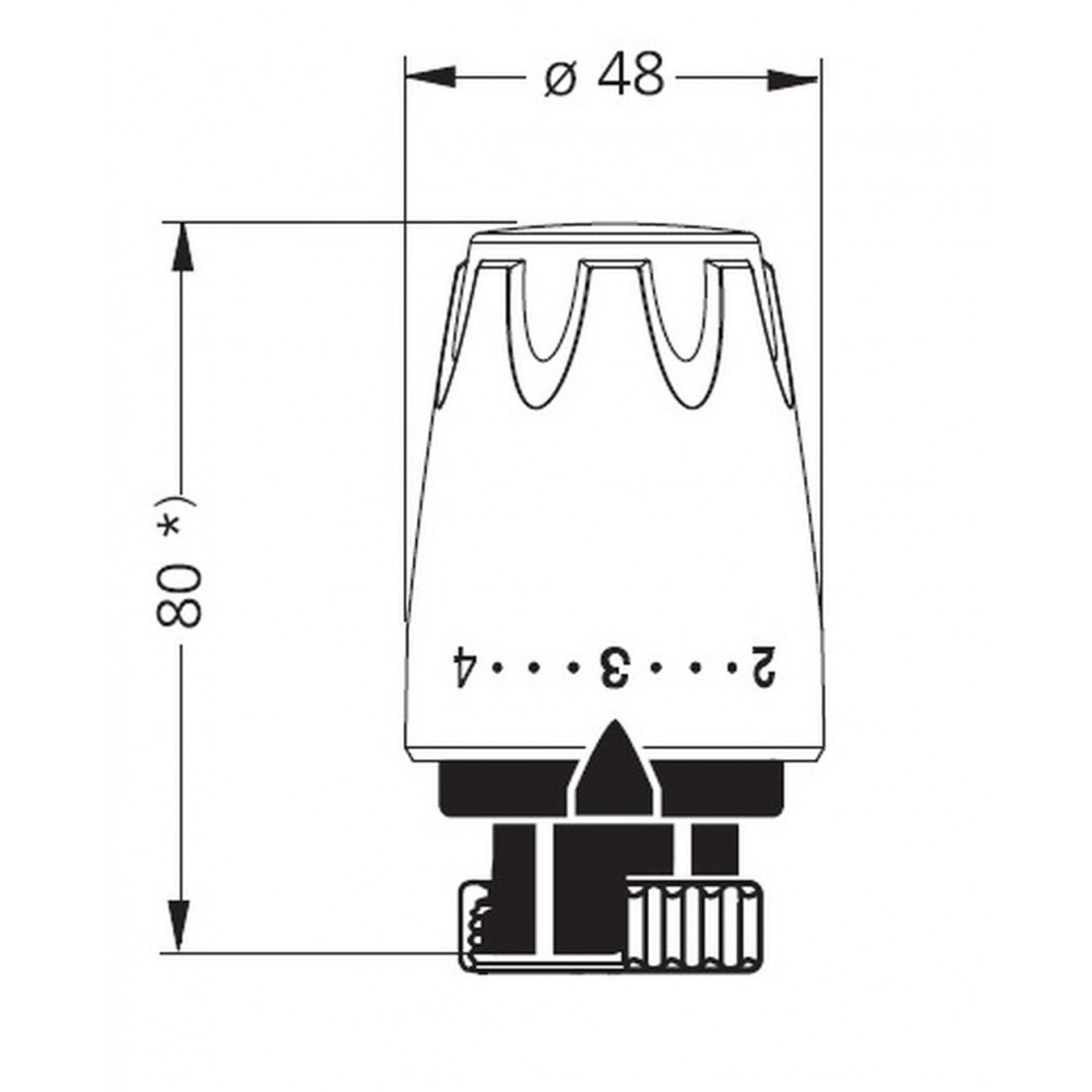 heimeier thermostat kopf dx 6700 wei ral 9016. Black Bedroom Furniture Sets. Home Design Ideas