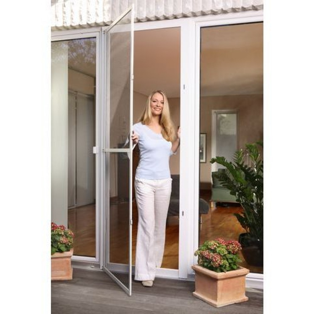 tesa insect stop fliegengitter alu comfort t ren braun netz anthrazit 1m x 2 2m 55192. Black Bedroom Furniture Sets. Home Design Ideas