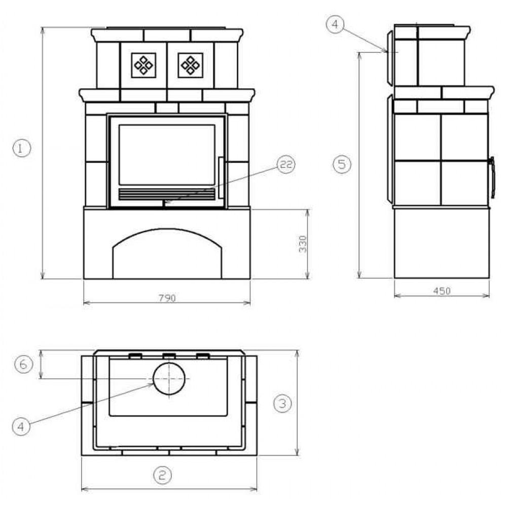 abx valencie kachelofen mit blech einsatz gr n. Black Bedroom Furniture Sets. Home Design Ideas