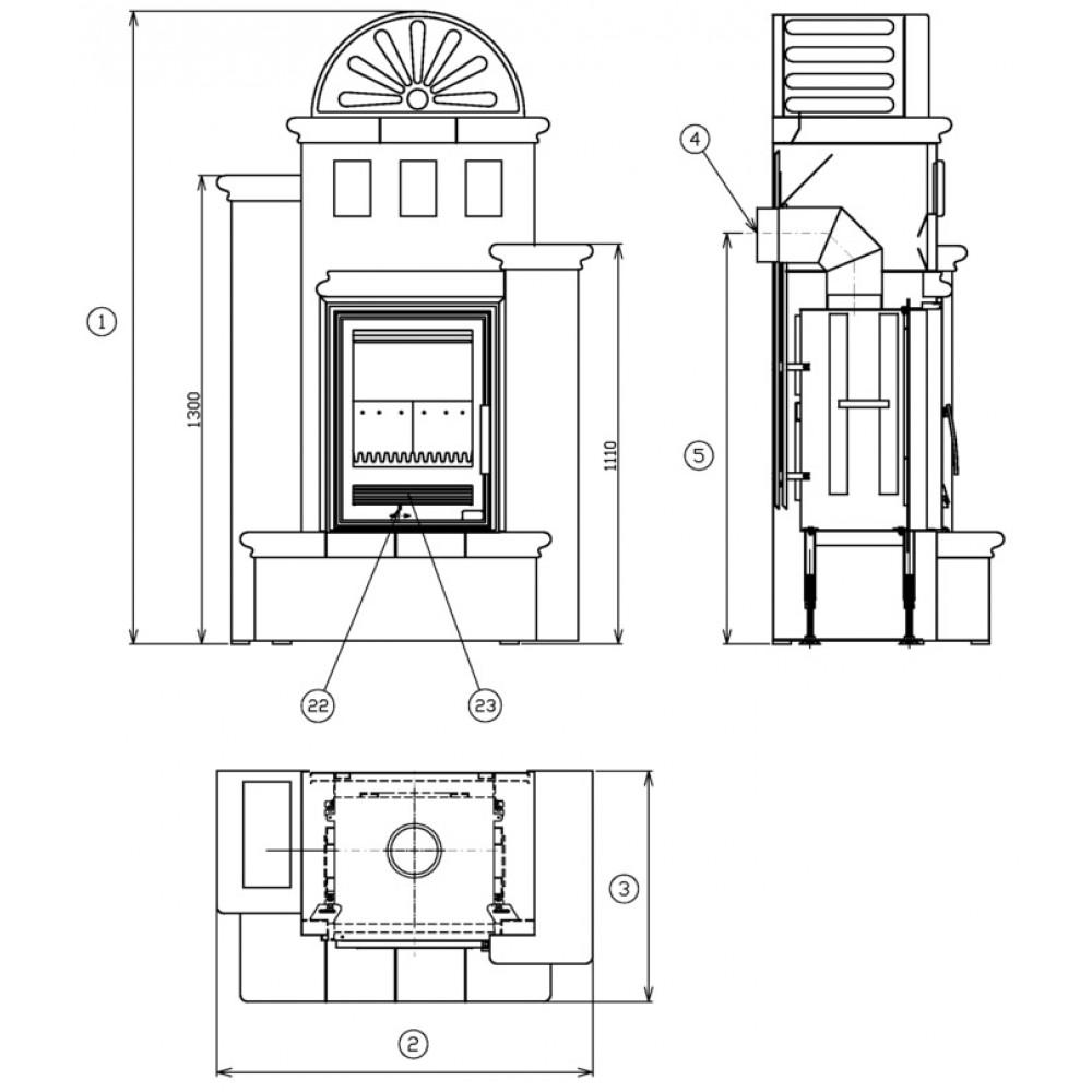 abx westfalia k 710 rechts kachelofen mit kombi einsatz schoko k710cp. Black Bedroom Furniture Sets. Home Design Ideas