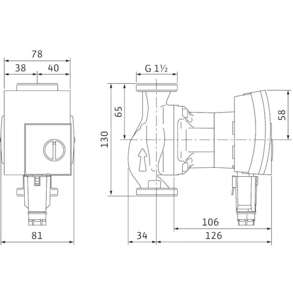 wilo yonos pico 25 1 6 130 heizungspumpe hocheffizienzpumpe klasse a pumpe 4164018. Black Bedroom Furniture Sets. Home Design Ideas